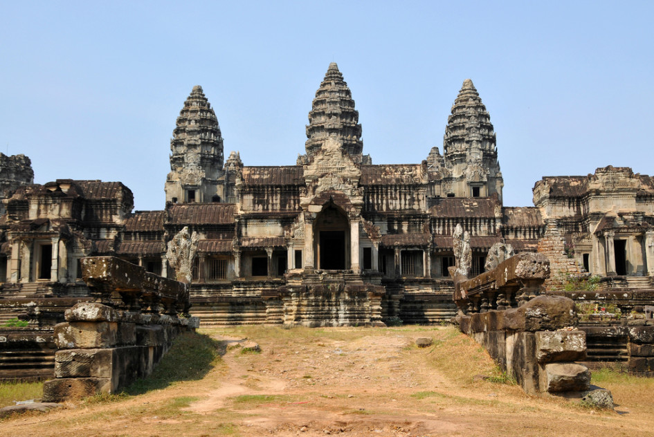 Some of the best hotels in Cambodia are located near Angkor Wat.